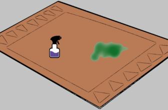 Чем отмыть зеленку с ковра