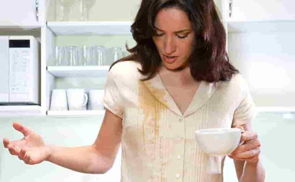 как вывести пятна кофе с белой одежды