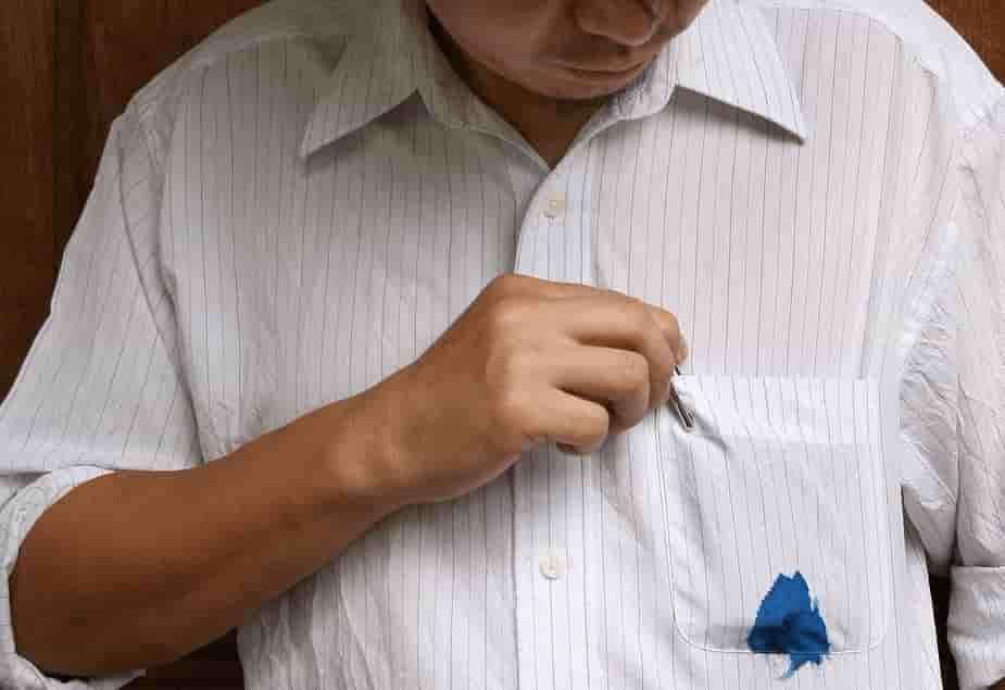 отстирать чернила с белой рубашки