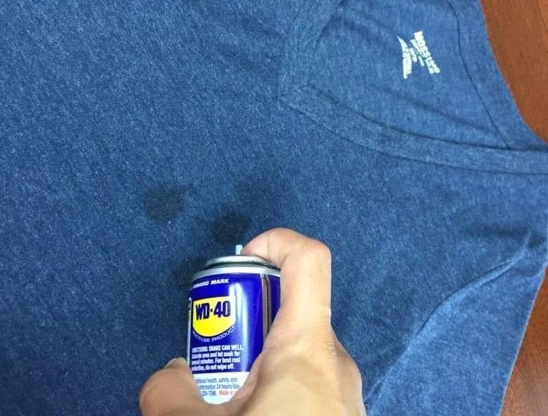 Чем вывести машинное масло с ткани