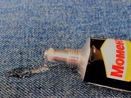 Как вывести супер клей с джинсов