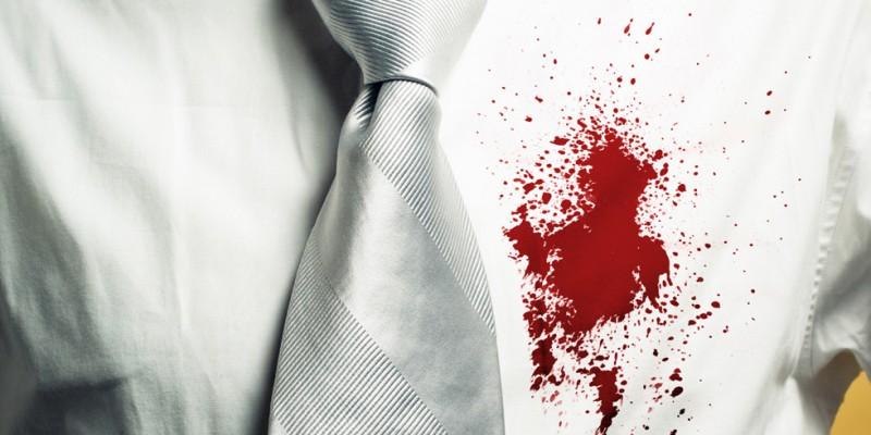 как вывести засохшие пятна крови