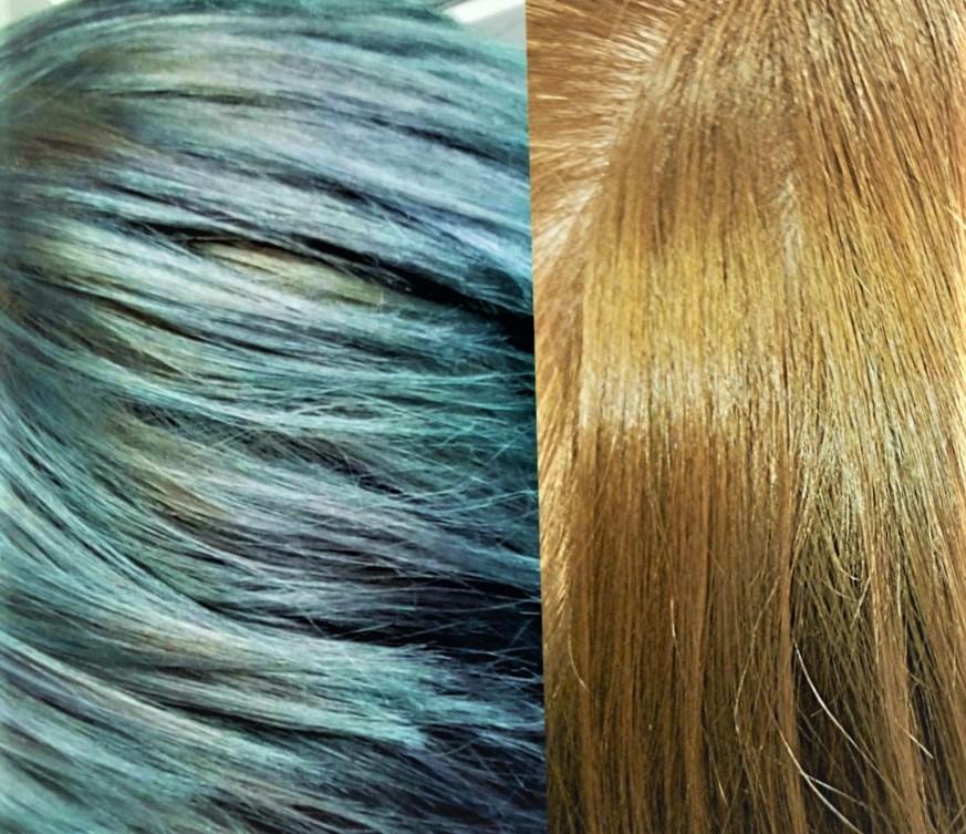 Чем смыть зеленку с волос