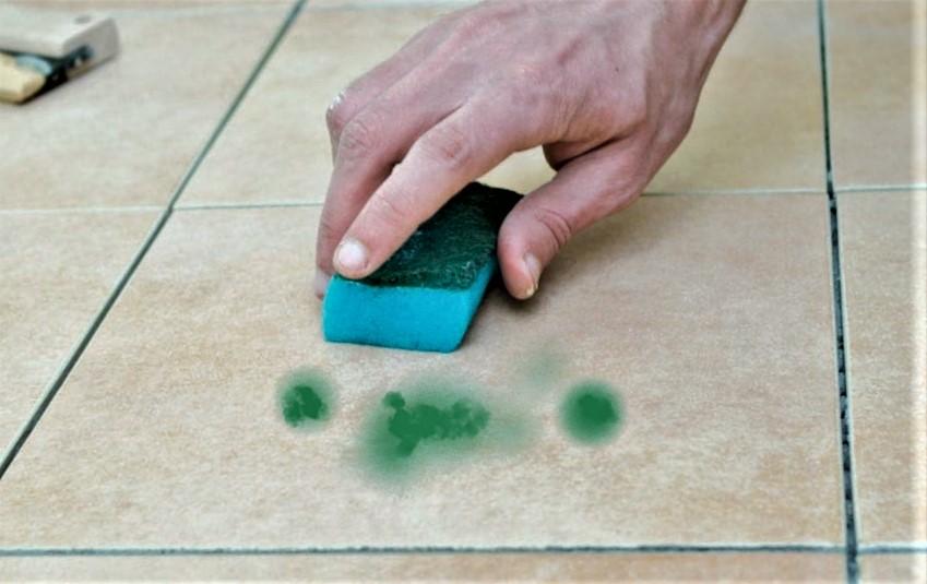 Чем отмыть зеленку с кафельной плитки