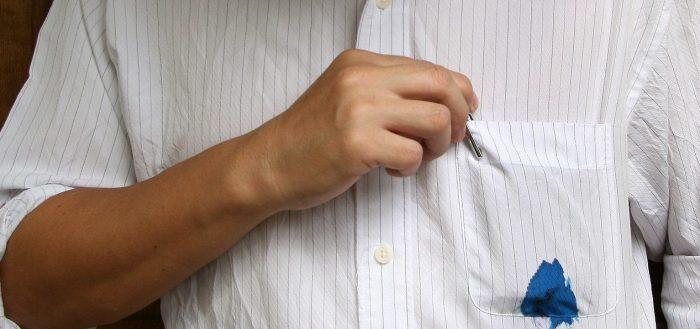 пятна ручки чем вывести
